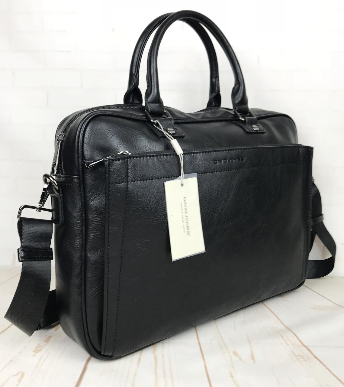 d2cb59ba Мужская сумка-портфель David Jones.Вместительная сумка David Jones для  документов. Мужские сумки
