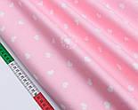 """Сатин """"Фігурні сердечка 14 мм"""" на рожевому № 1759с, фото 2"""