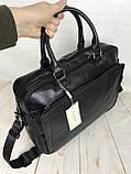 Мужская сумка-портфель David Jones.Вместительная сумка David Jones для документов. Мужские сумки и портфели., фото 4