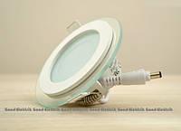 Cветильник потолочный светодиодныйGlass RimMetal6W круглый