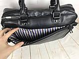 Мужская сумка-портфель David Jones.Вместительная сумка David Jones для документов. Мужские сумки и портфели., фото 9