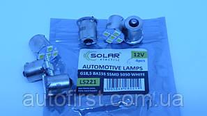 SOLAR Автолампа LED 12V G18.5 BA15s 5led 5050 white (1 шт)