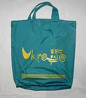 """Многоразовый экологичный пакет """"Котомка на змейке"""" бирюза, фото 1"""