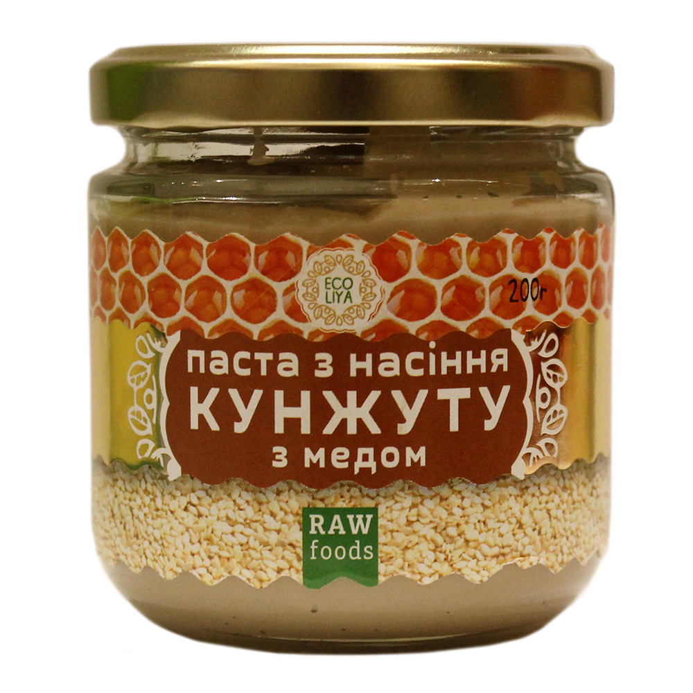 Паста из семян кунжута с медом 200 грамм