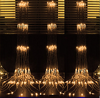 Гирлянда штора (водопад) шампань