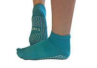 Носки для йоги нескользящие RAO Бирюзовые hubMhOg25414, КОД: 270259