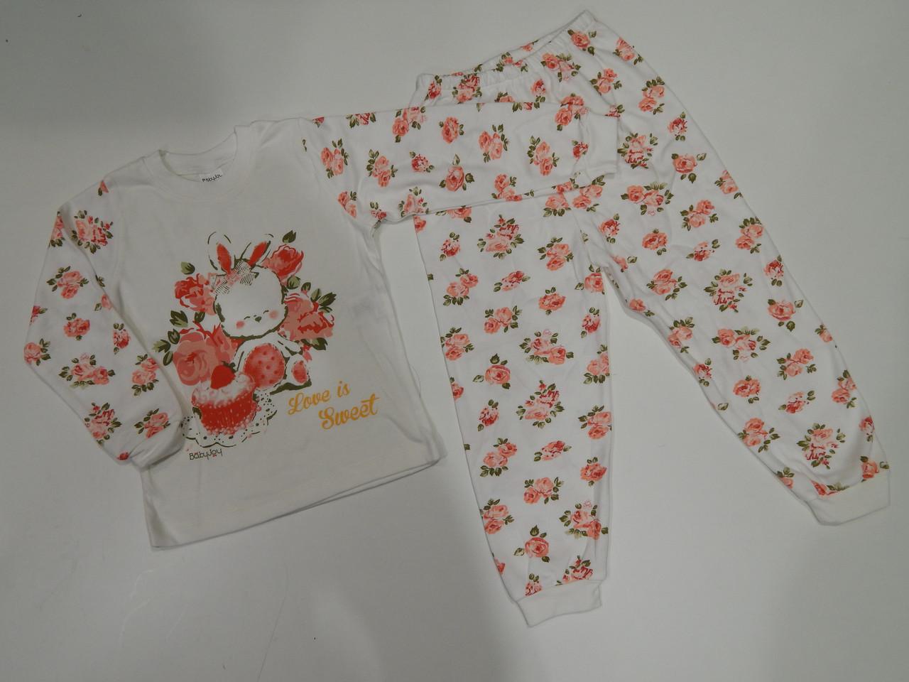 Пижама для девочки интерлок р.110 Пр-во Турция