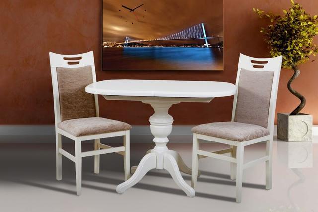 Комплект мебели Триумф + Юля ваниль (2 стула)