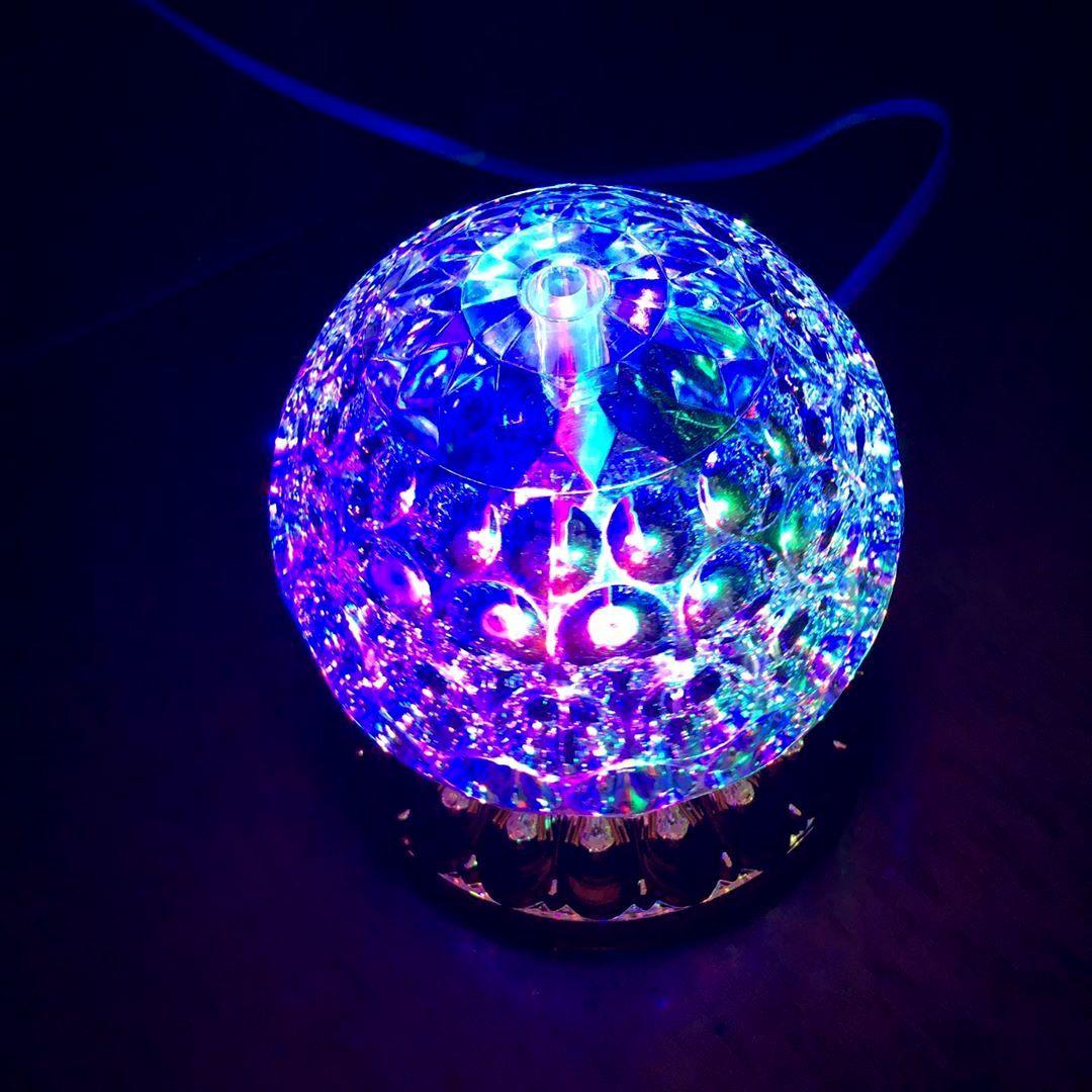 Вращающаяся диско лампа Led full color rotating lamp светодиодная