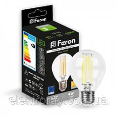 Светодиодная лампа Feron Filament G45 4W 400lm Е27 4000k
