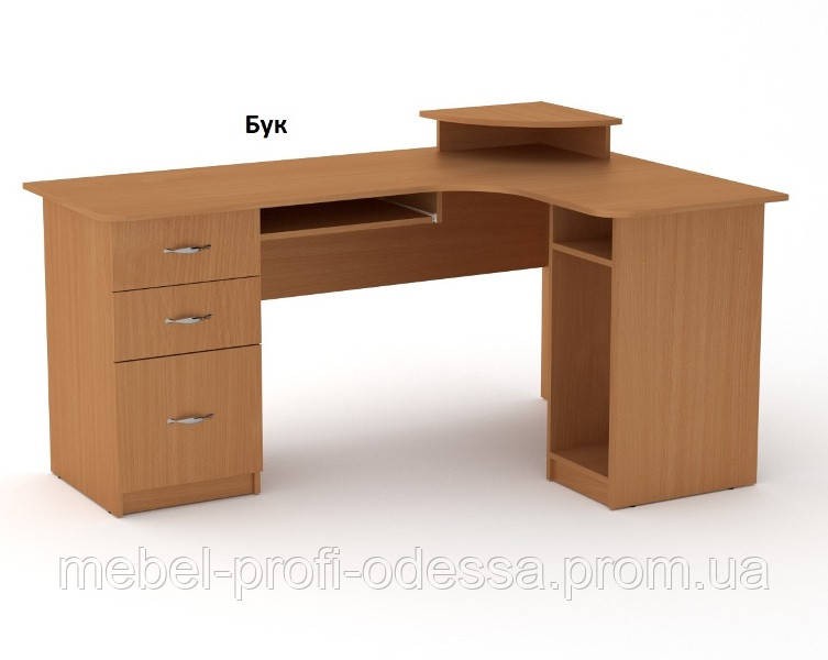 Угловой компьютерный стол СУ 3кромка абс Компанит 1600х852х1100