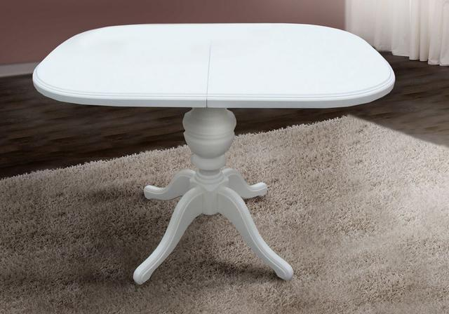 Стол обеденный Триумф раскладной белый