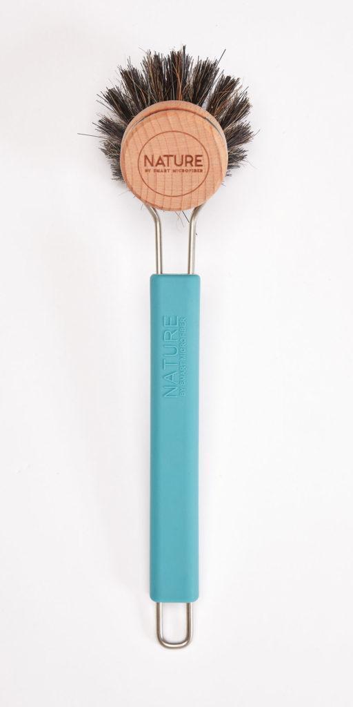 Щітка для посуду з насадкою з кінського ворсу SMART Microfiber System синього кольору