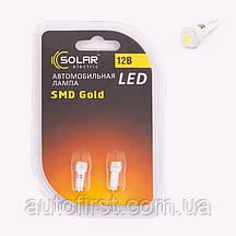SOLAR Автолампа LED 12V T5 W2x4.6d 1led 3528 white (2 шт)