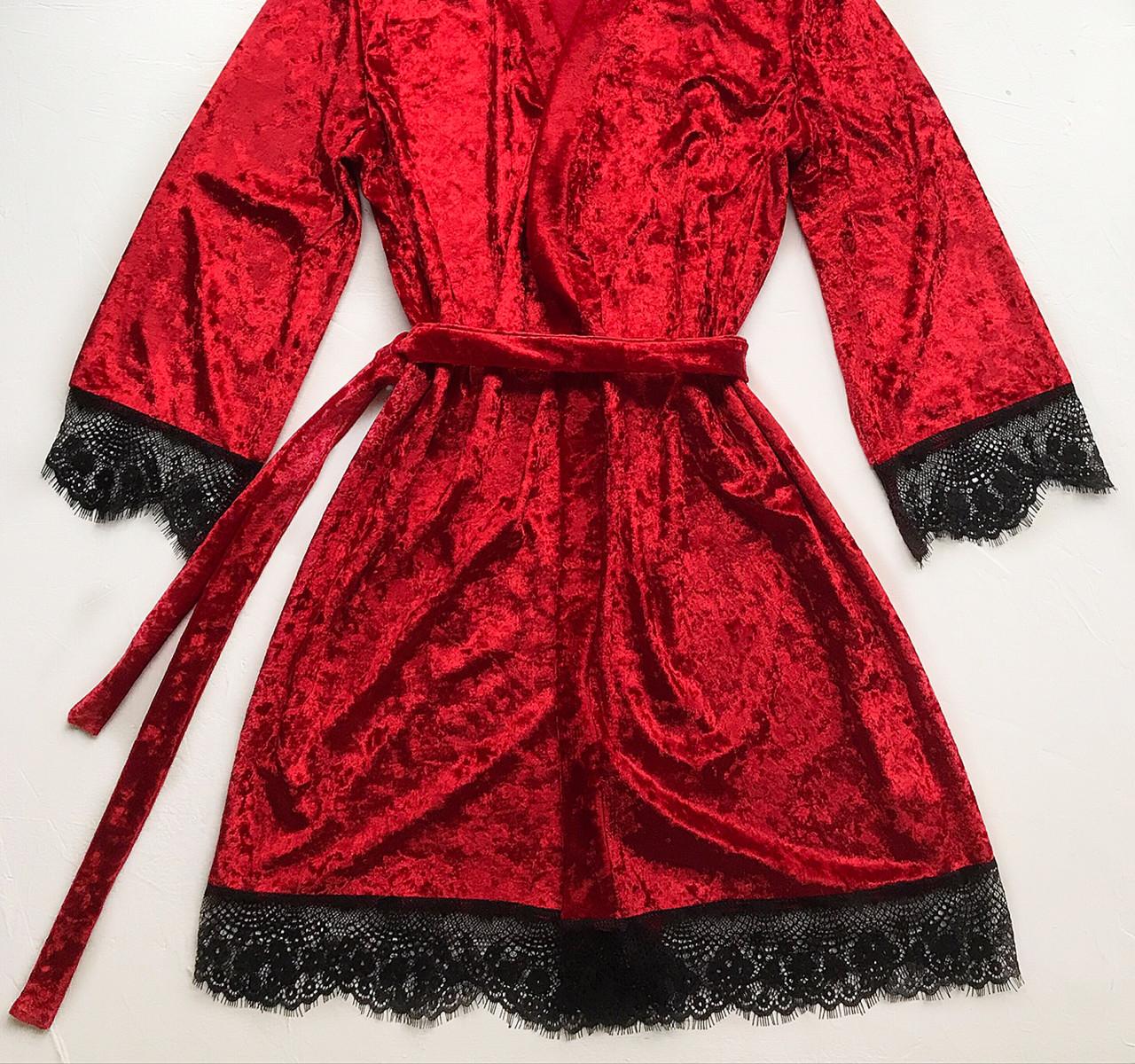 Женский халат S-M размер красный