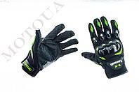 Рукавиці (Перчатки) KAWASAKI (чорно-зелені size: M)