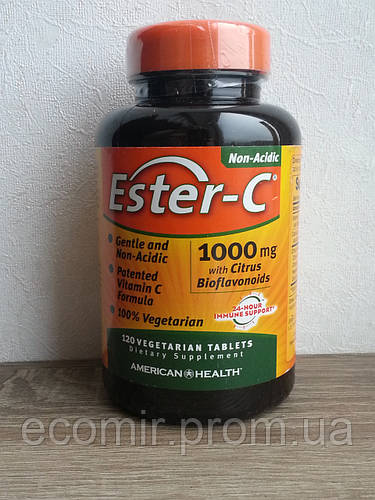 1000 120 Source · American Health Ester C Dietary Supplement Vegetarian Tablets 1000mg ...
