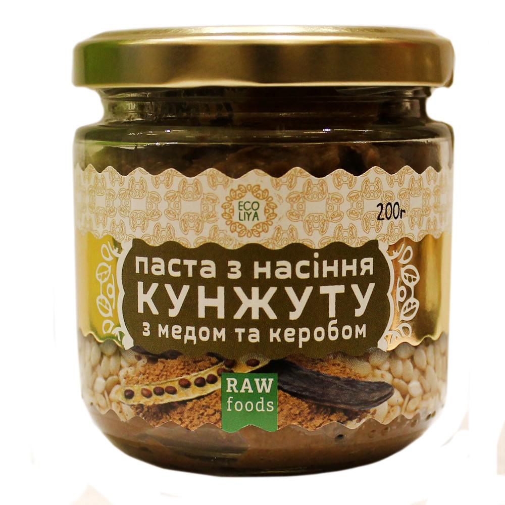 Паста из семян кунжута с медом и керобом 200 грамм