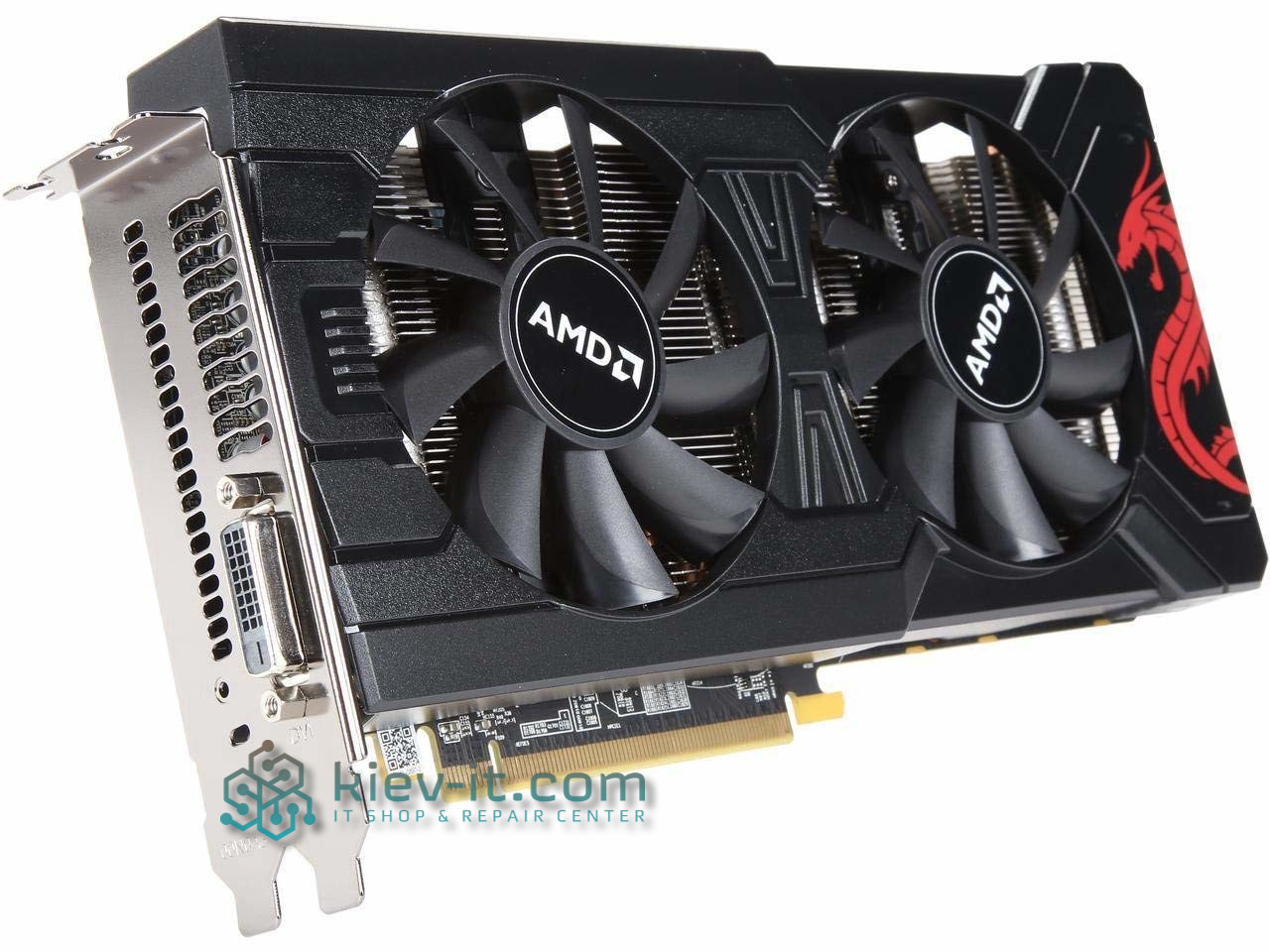 "Видеокарта PowerColor Radeon RX 570 8GB (AXRX 570 8GBD5-DM) GDDR5 ""Over-Stock"" Б/У"