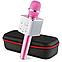 Портативный беспроводной Bluetooth микрофон-караоке Q7 с чехлом (выбор цвета), фото 8