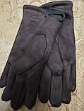 Замш з хутро рукавички на манжеті ANJELA стильні тільки оптом, фото 4