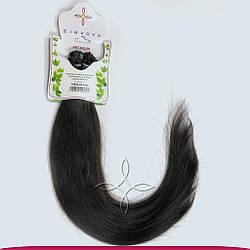 Натуральные Волосы на Капсулах 50 см 125 грамм, Черный №1B