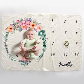 Детское покрывало-метрика MAX 5в1 - Единорог и цветы