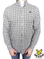 Мужская рубашка Lyle & Scott р-р L Оригинал (сток, б/у) original  с длинным рукавом в клетку