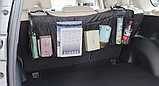 Органайзер для автомобиля на спинку заднего сиденья 108*33 см Черный, фото 2