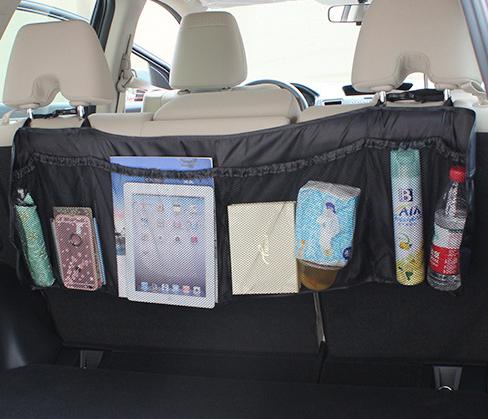 Органайзер для автомобиля на спинку заднего сиденья 108*33 см Черный