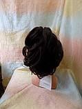 Хвост короткий пышный на крабе шоколадно-каштановый BABY-4/33, фото 4