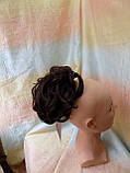 Хвост короткий пышный на крабе шоколадно-каштановый BABY-4/33, фото 6
