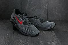 Мужские демисезонные кроссовки Nike Air Max серые топ реплика