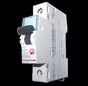 Автоматический выключатель  Legrand TX3 6A 1-п «C»