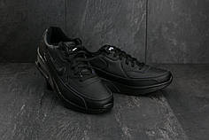 Мужские демисезонные кроссовки Nike Air Max черные топ реплика