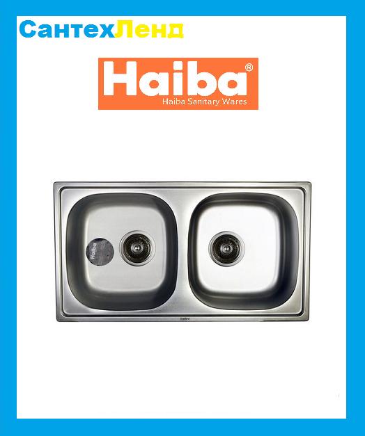 Мойка Кухонная Haiba Double 78x43 Satin