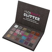 Палитра теней HUDA BEAUTY Glitter Summer Black Gold Edition 24 в 1