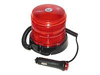 Мигалка светодиодная 122.5*92.3*111.5 12V 36LED магнит/саморез красная