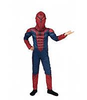 Костюм Человек паук с мышцами комбинезон карнавальный новогодний темный