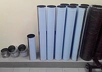 Дымоходная труба 0,5 мм из нержавеющей стали одностенная