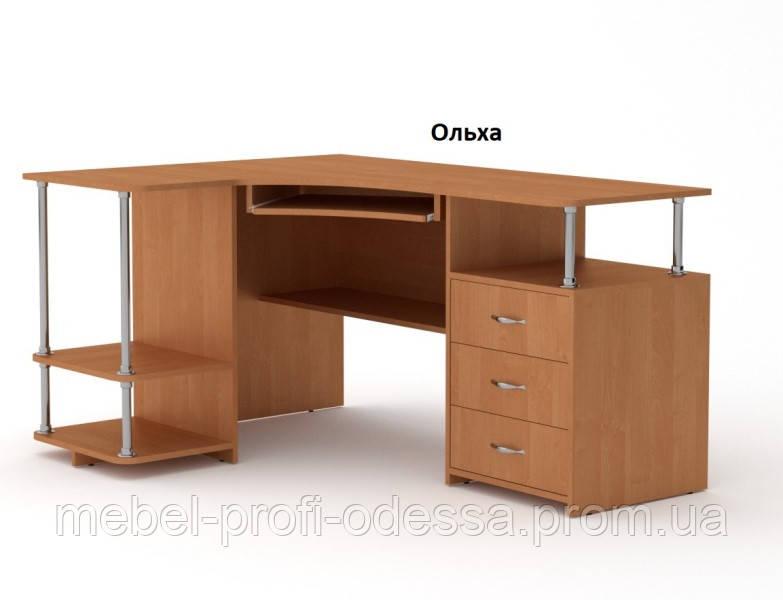 Угловой компьютерный стол СУ 4 NEW Компанит 1500х1100х882