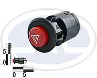 """Кнопка включення аварійної сигналізації ВАЗ 2101-07, 6 конт. """"аварійка"""" (пр-під АВАРІВ 245.3710.000.02)"""