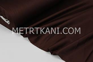 Сатин  премиум, темно-коричневого цвета ширина 240 см № ПС-0034