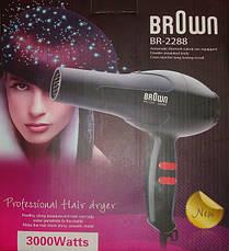 Фен для волосся BR Brown-2288,потужність 3000w, 2 рівня швидкості CG23, фото 3