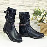 Ботинки женские демисезонные на маленьком каблуке, из натуральной кожи флотар, фото 3