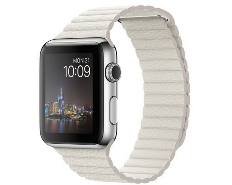 Ремешок New Generation для Apple Watch Series 3 Leather Loop 42 mm White 894552, КОД: 179235