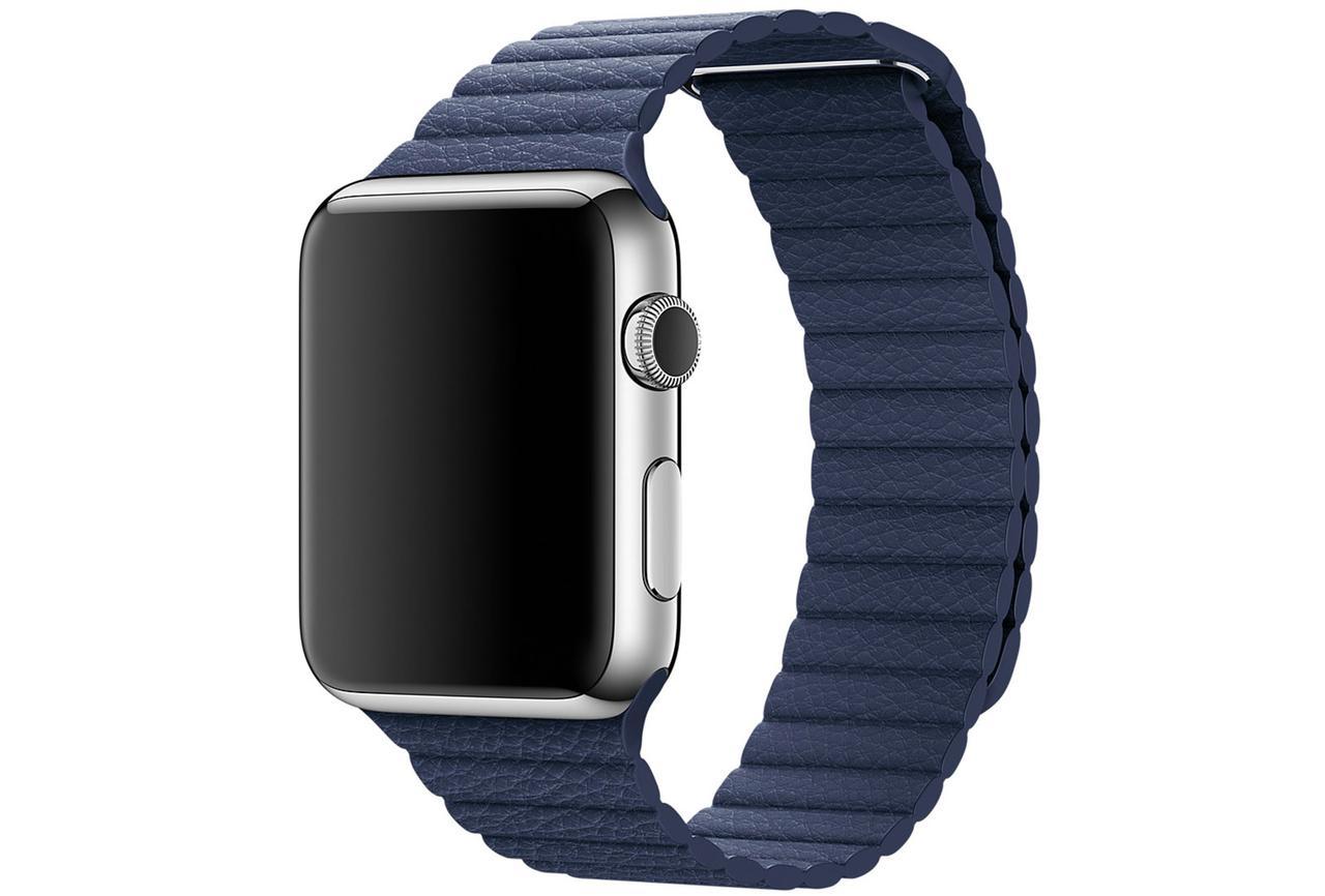 Ремешок Fitness для Apple Watch Series 3 Leather Loop 42 mm Blue 789789, КОД: 179116