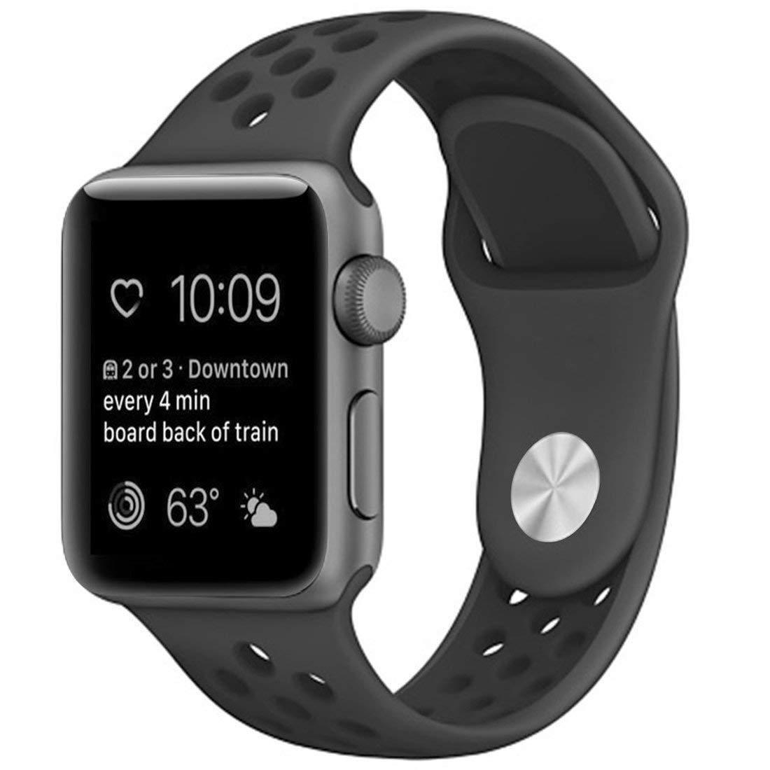 Ремешок Fitness для Apple Watch Series 1 Sport 42 mm Black Space Black 899512, КОД: 179076