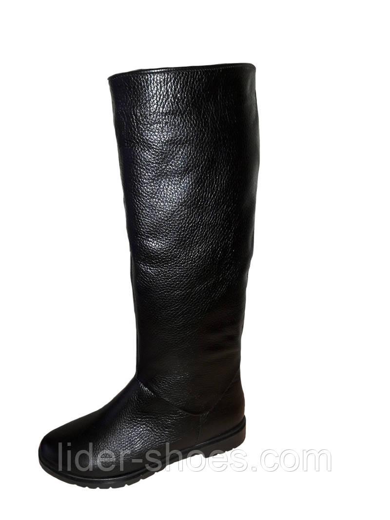 Женские зимние сапоги на низком каблуке Marini