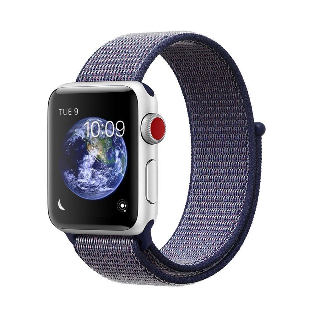 Ремешок New Generation для Apple Watch Series 1 Sport Loop 42 mm Midnight Blue 100646, КОД: 178600
